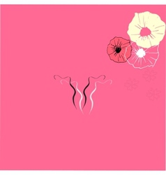 Uterus icon with flower vector