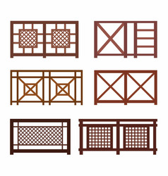 various fences on white vector image