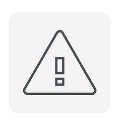 warning icon black vector image