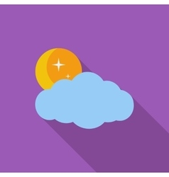 Weather icon Moon stars and clouds vector image