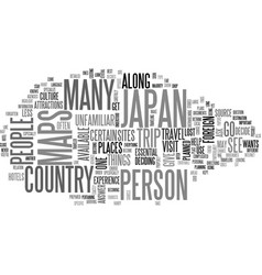where to go in japan text word cloud concept vector image vector image