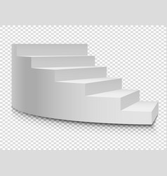 White 3d circular ladder staircase or vector