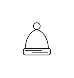 Winter hat icon vector