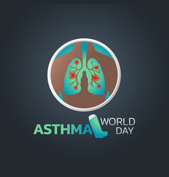 world asthma day icon design vector image
