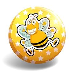 Bee badge vector image vector image