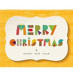 Merry Christmas Happy new Year fun color design vector image
