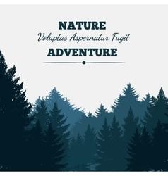 Pine forest landscape background vector image