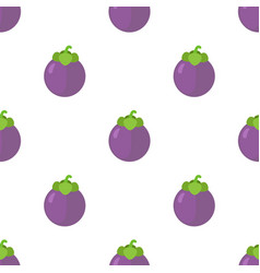 seamless pattern of tasty mangosteen vector image vector image
