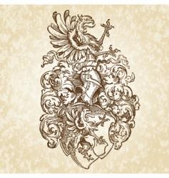 shield medieval illustration vector image vector image