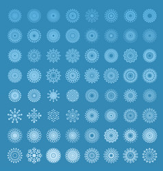 snowflakes in blue background vector image vector image