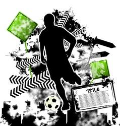 soccer grunge vector image vector image