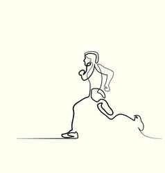 sport running man vector image vector image
