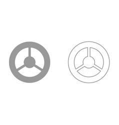 steering wheel it is black icon vector image vector image