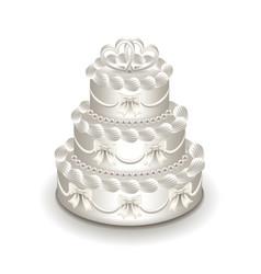 wedding cake isolated on white vector image