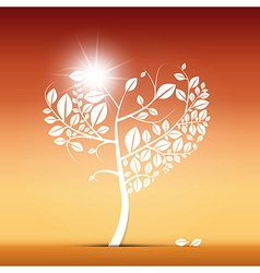 Abstract Heart Shaped Tree on Desert vector image vector image