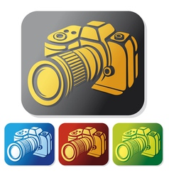 camera icon set vector image