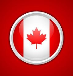 Canadian circular badge vector image vector image