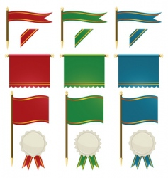 flags and ribbons vector image vector image