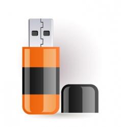 flash drive vector image vector image