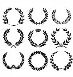 set - laurel wreath vector image