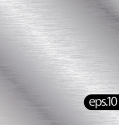 brushed chrome metal background texture vector image