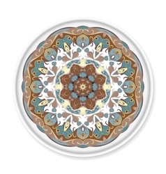 Colorful decorative plate with pattern vector image