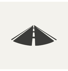 road Black and white style vector image
