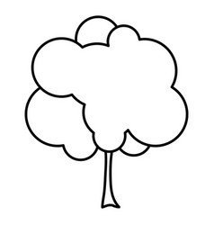 Sketch silhouette small leafy tree with leaves vector