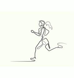 sport running woman vector image vector image