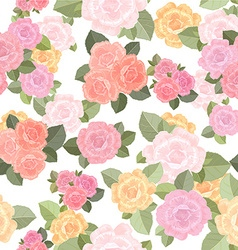 vintage seamless texture with roses vector image