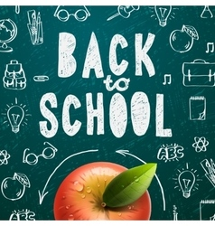 Welcome back to school sale background vector image vector image