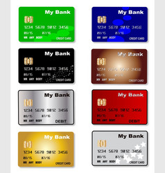 Credit card collection vector