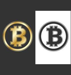 crypto currency bitcoin symbols vector image