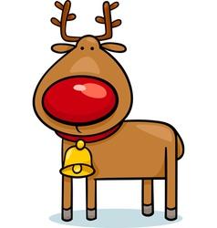 cute christmas reindeer cartoon vector image vector image