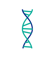 dna molecule sign genetic elements and icons vector image vector image
