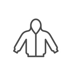 hoodie line icon vector image