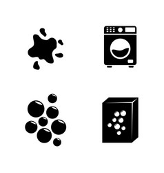 laundry simple related icons vector image