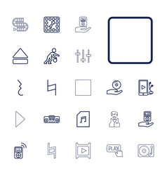 22 player icons vector