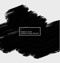 abstract hand painted black stroke vector image