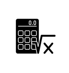Algebra black glyph icon vector
