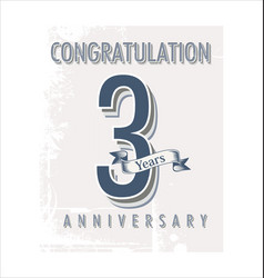 Anniversary banner collection 3 years vector