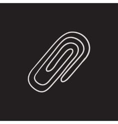 Attach symbol sketch icon vector image