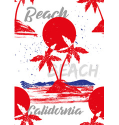 beach california vector image