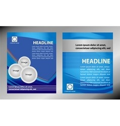 brochure flyer magazine cover poster te vector image