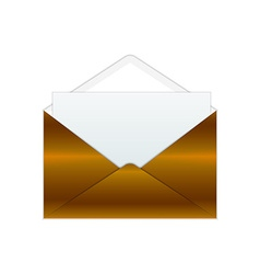 Bronze envelope and paper vector