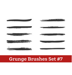 brushes collection vector image