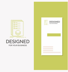 Business logo for categories check list listing vector