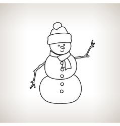 Christmas Snowman on a Light Background vector