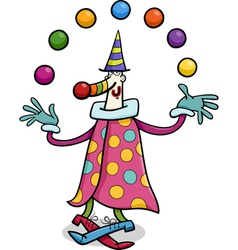 circus clown juggler cartoon vector image