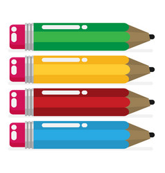 color pencil in a flat style vector image